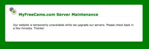Le site de sexcam est en maintenance.