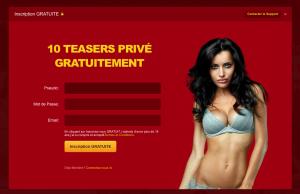 L'inscription gratuite donne droit à des teasers qui permettront d'espionner une salle privée pendant 20 secondes.