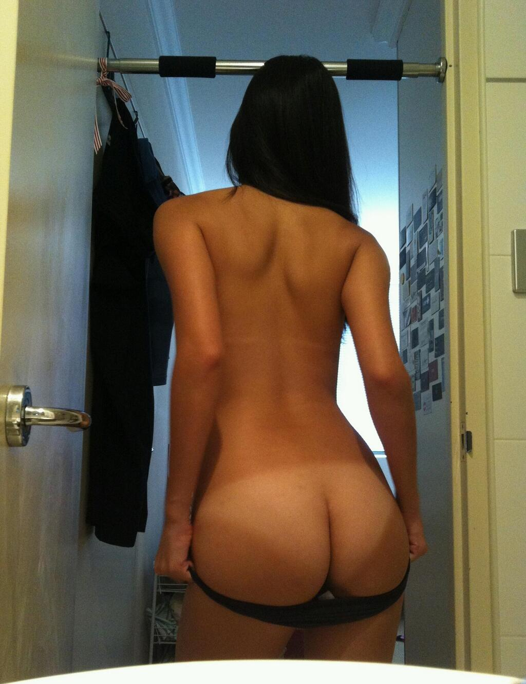 Beautiful brunettes taking photos in mirrors nude